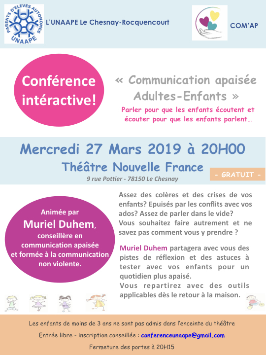 Conférence Le Chesnay UNAAPE COM'AP