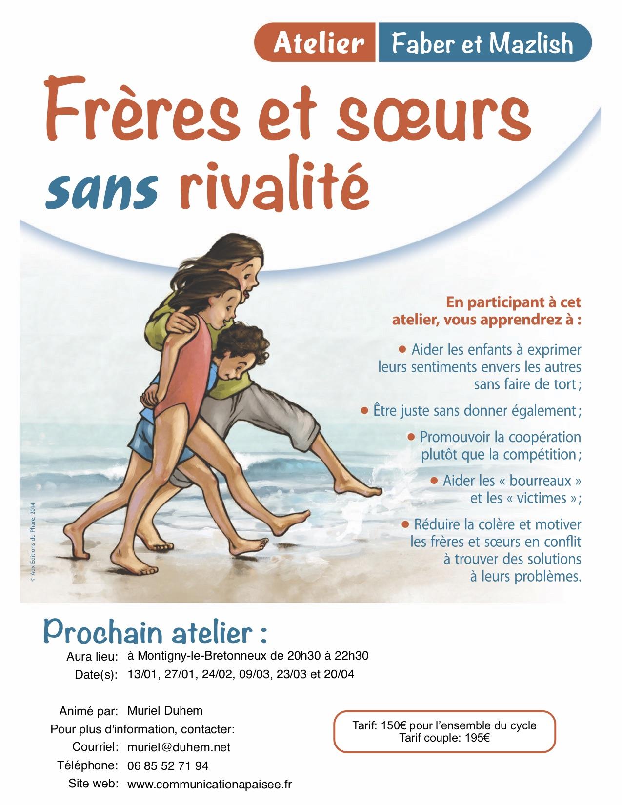 Rivalités Frères Soeurs Faber Mazlish 2020 Montigny